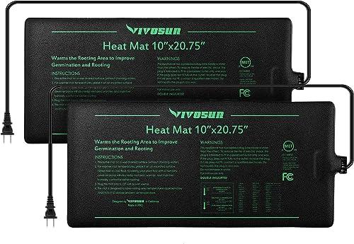 popular VIVOSUN 2 Pack outlet sale Durable Waterproof Seedling Heat Mat Warm Hydroponic online sale Heating Pad 10 x 20.75 Inch outlet online sale