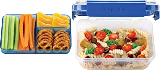 SnapLock by Progressive Bento-To-Go Container - Blue, SNL-1021B  Easy-To-Open, Leak-Proof Silicone Seal, Snap-Off Lid, Stackable, BPA FREE