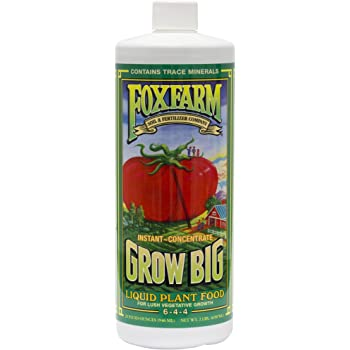 FoxFarm 752289790201 FX14006 1-Quart Grow Big Liquid Concentrate 6-4-4, Blue