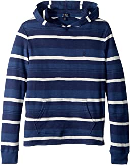 Striped Waffle Knit Hoodie (Big Kids)