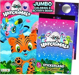 Hatchimals Coloring Book Activity Stickers Set with 295 Hatchimals Stickers Bundled with Separately Licensed Specialty Castle Doorhanger