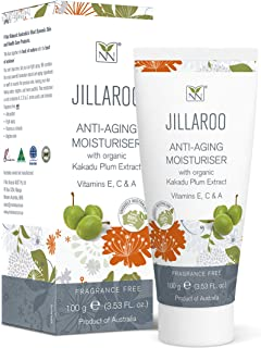 Y-Not Natural - Jillaroo Anti Aging Moisturizer with Organic Kakadu Plum Extract (100 g) | Fortified with Vitamins E, C, A...
