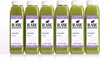 Celery Juice Daily Health Tonic by Raw Generation (18-Count) – 100% Pure Celery with a Splash of Lemon/Great for Detoxifying Your Body and Boosting Energy/Best to Use Once Daily on Empty Stomach