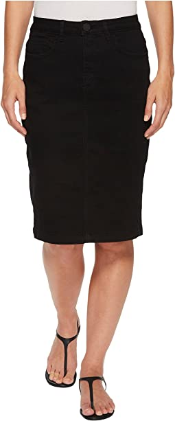 Onyx Denim Skirt in Black