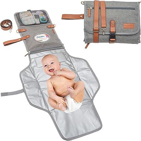 perfeclan Baby Wickelauflage Wickelunterlage 60x35 Reise flatbare Tragbare Windel Auflage Wickeltischauflage f/ür Reise Outdoor Reise Gr/ün