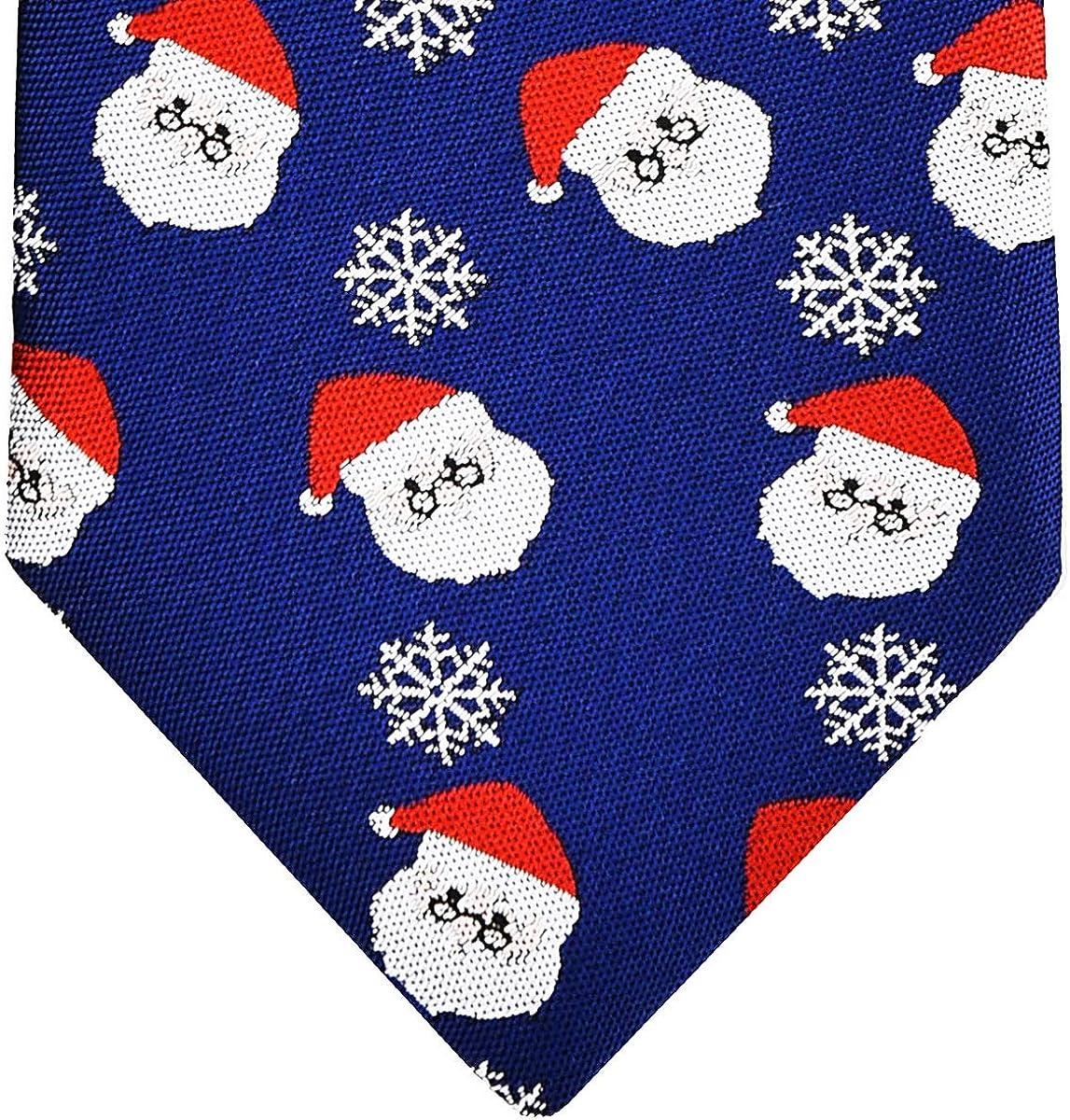8-10 years Retreez Christmas Santa Claus with Snowflakes Pattern Boys Tie