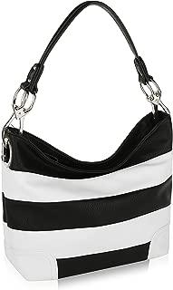 Mia K Collection Hobo Bag for Women - PU Leather Handbag - Womens Shoulder Bag Top Handle Fashion Pocketbook Purse