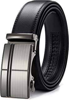 CHAOREN Men's Automatic Belt for Men, Ratchet Leather Belt 35 mm Wide with Gift Box - Black - X-Large