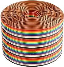 Kleurrijke 1,27 mm afstand pitch kabel 40P regenboog platte lintkabel met draadbreedte 5,08 cm(1meter)