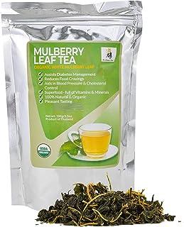 Sponsored Ad - USDA Organic Mulberry Tea : White Mulberry Leaf Tea Leaves from Thailand, Sugar Free Diabetic Tea : Blood S...