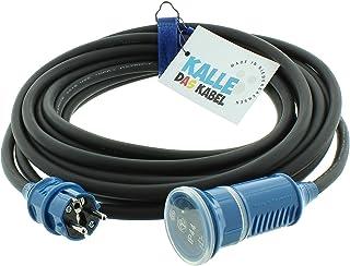 SCHUKO Gummiverlängerung 230V H07RN-F 3G 2,5 mm2 von KALLE DAS KABEL 10 Meter