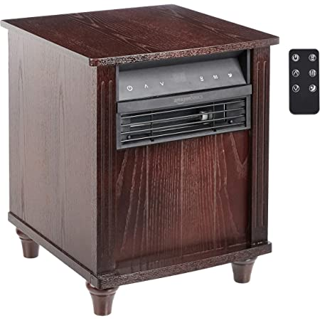 Amazon Basics Cabinet Style Space Heater, Brown Wood Grain Finish, 1500W