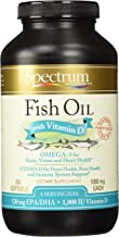 Spectrum Essentials Fish Oil with Vitamin D, 1000 mg, 250 Softgels