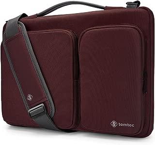 tomtoc 360 Protective Laptop Shoulder Bag for 15.6 Inch Acer Aspire 3/5/7 Laptop, HP Pavilion 15.6, Dell Inspiron 15 3000, 15.6 ASUS ROG Zephyrus and ASUS Lenovo Samsung 15 Inch Notebook