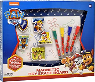PAW Patrol Magnetic Dry Erase White Board, Magnets and Markers for Kids Coloring Activity Toy