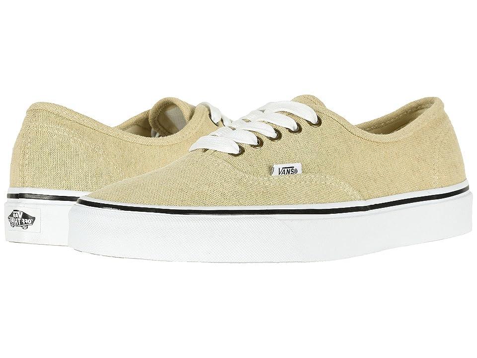 Vans Authentictm ((Cotton Hemp) Natural/True White) Skate Shoes