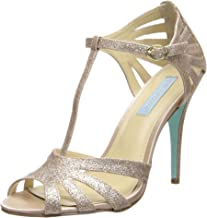 blue by betsey johnson tee evening sandals champagne