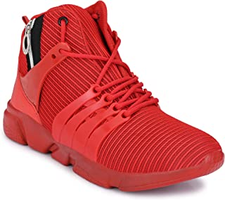 Fashion World Perfect Ultra mesh Running with Gym Shoes red