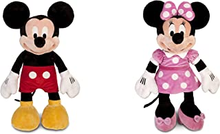Disney Mickey Mouse Plush - Large - 25 and Minnie Mouse Plush - Pink - Large - 27 Combo Set