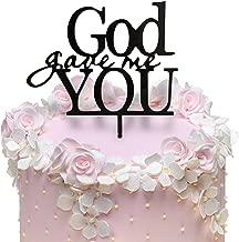 JennyGems God Gave Me You Cake Topper - Wedding Cake Topper, Christian Cake Topper, Anniversary Cake Topper