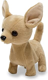 Cuddle Barn Animated Plush Toy Dog Lola The Chihuahua Barks & Wags Tail,6 Inches