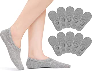 TUUHAW No Show Socks Womens Mens Cotton 10 Pairs Invisible Low Cut Casual Ankle Socks