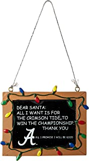 Forever Collectibles NCAA College Resin Chalkboard Sign Christmas Ornament - Pick Team