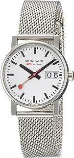 Mondaine - SBB Evo Big Date 30mm A6693030511SBM Reloj de pulsera Cuarzo Mujer correa de Acero inoxidable Plateado