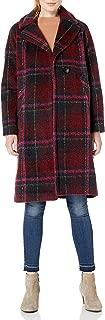 plus size plaid wool coat