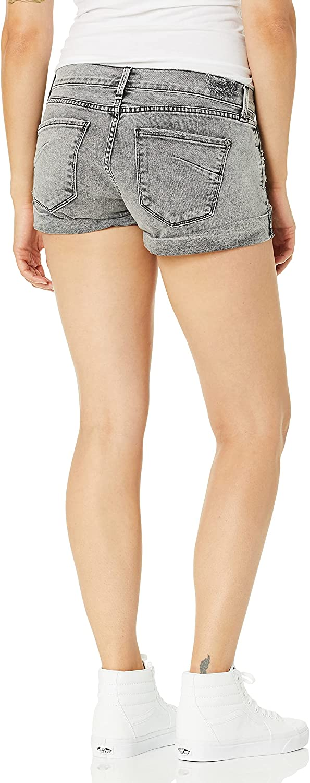 James Jeans Women's Charlie Rolled Hem Baggy Boyfriend Shorts in Thrashed