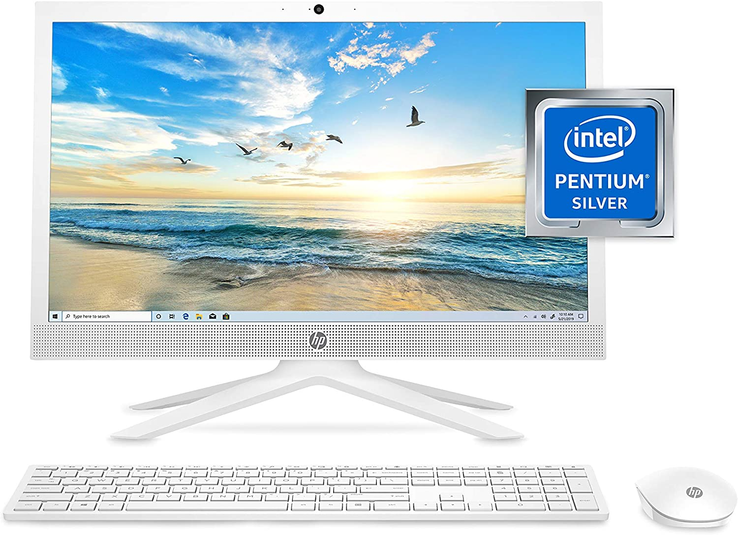HP 21 All-in-One PC Intel J5040 Proces Quad-Core Silver Large discharge sale Pentium Rapid rise