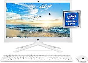 صفحه نمایش تمام عیار HP ، نمایشگر مورب 20.7 اینچی ، پردازنده Intel Pentium Silver J5040 ، گرافیک Intel UHD Graphics 605 ، 4 گیگابایت RAM ، 128 گیگابایت درایو حالت جامد (21-b0020 ، سفید برفی)