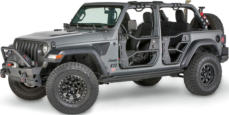 Warn 103102 Elite Jeep Wrangler Jl Rear Tube Doors Pair Automotive Amazon Canada