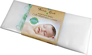Harlow's Earth Waterproof Crib Mattress Cover | Toxic Shield from Mattress Off-Gassing | Safe Sleep