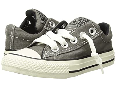 Converse Kids Chuck Taylor(r) All Star(r) Street Ox (Little Kid/Big Kid) (Charcoal) Kid