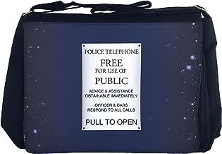 NaniWear Doctor Police Box Who Sign Large Geek Messenger/Laptop Bag