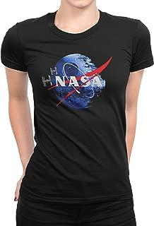 USA Threadz Death Star NASA Black T-Shirt for Women