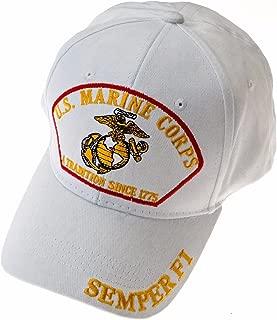 Exclusive Caps USMC Marine Corps Baseball Cap with Emblem, Semper Fi and Motto
