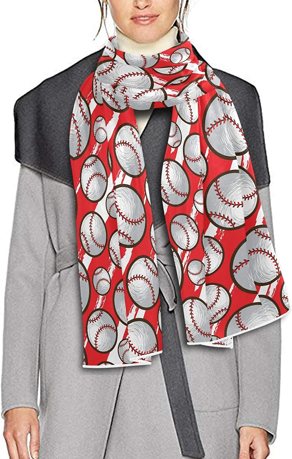 Scarf for Women and Men Red Baseball Shawl Wraps Blanket Scarf Soft Thick Winter Large Scarves Lightweight