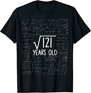 Square Root of 121: 11th Birthday 11 Years Old T-Shirt