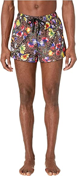 Flowers and Harness Swim Shorts