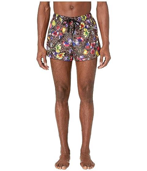 Moschino Flowers and Harness Swim Shorts