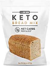 Low Karb - Keto Bread Mix - Only 2g Net Carbs per slice - Makes 1 Large Loaf - Low Carb Food - Easy Baking (13.3 oz) (1 Co...