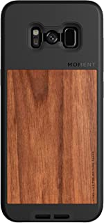 Galaxy S8+ Case    Moment Photo Case in Walnut Wood - Thin, Protective, Wrist Strap Friendly case Camera Lovers.