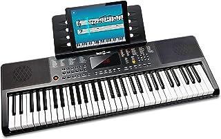 Rockjam 61 Piano Clavier Clé avec la Note Lutrin de Partitions pour Piano Autocollant Alimentation et Simplement L'Applica...