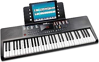 RockJam 61 Portable Electronic Keyboard with Key Note Sticke