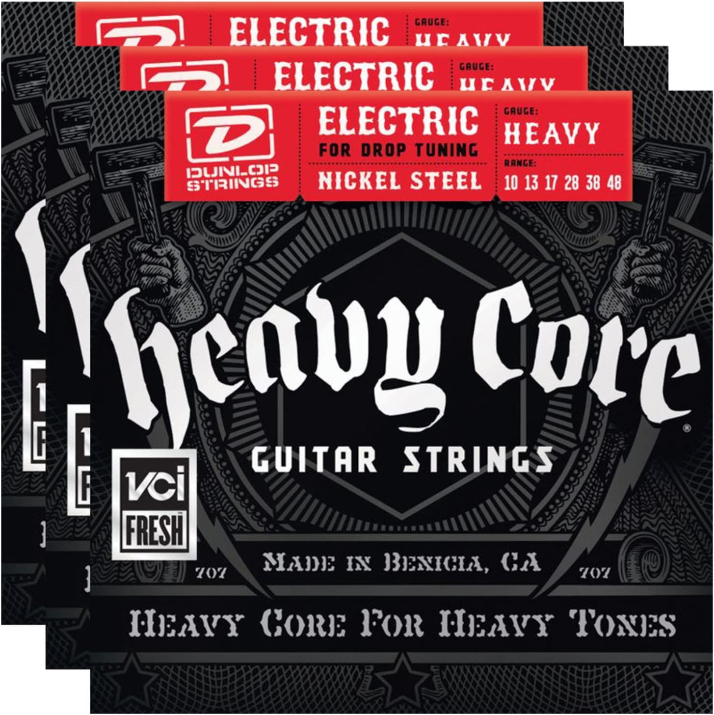 price 3 sets Detroit Mall of Dunlop DHCN1048 Heavy Strings 6 SET Core Electric