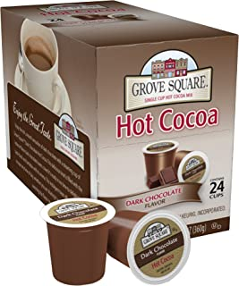 Grove Square Hot Cocoa Dark Chocolate, 24 Single Serve Cups