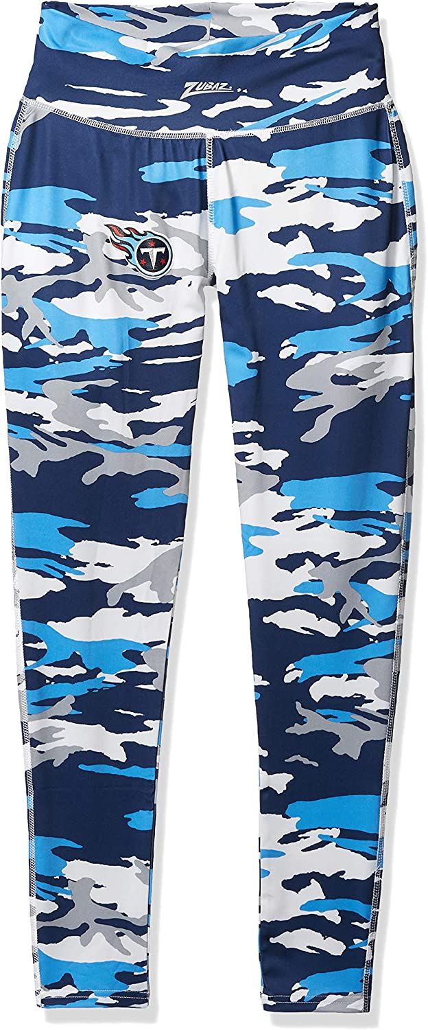 NFL Tennessee Max 48% OFF Titans Women's Camo Blue Navy Leggings Large Oklahoma City Mall