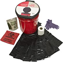 Emergency Zone Honey Bucket Style Toilet Complete Set with Liner and Chemicals. 1 Pack